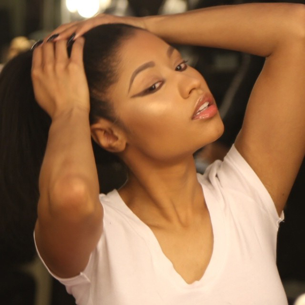 Nicki Minaj Without A Wig Or Weave Nicki Minaj Without He...