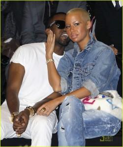 Kanye West and Amber Rose Hit Paris Fashion Week!