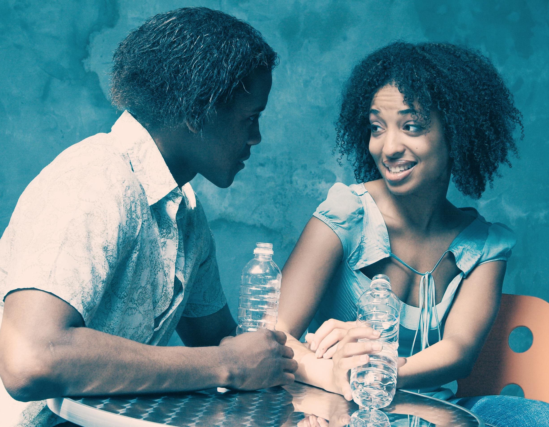 Young Woman and Man Flirting