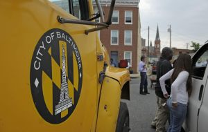 Baltimore Mayor Stephanie Rawlings-Blake Kicks Off AOL's 2nd Annual Monster Help Day During A Press Conference At The Sharp-Leadenhall Neighborhood