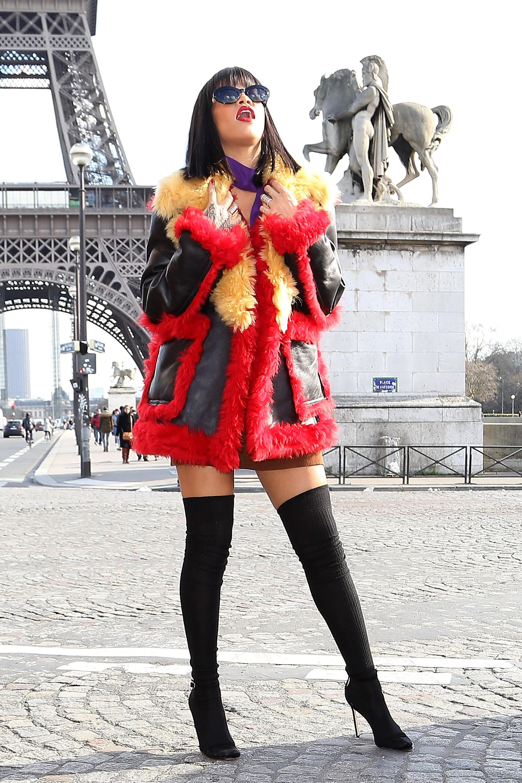 Rihanna Sighting In Paris