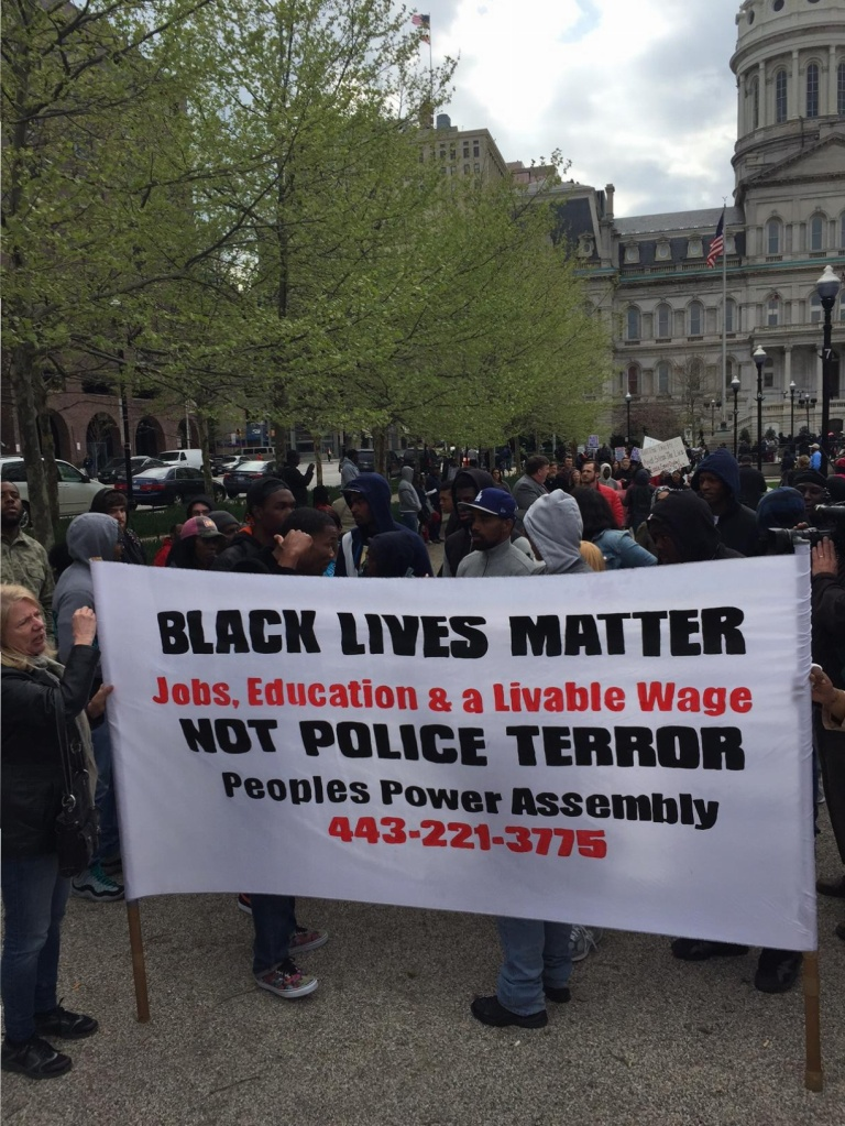Freddie Gray Rally Baltimore
