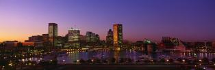 Inner Harbor, Baltimore, Sunset, Maryland