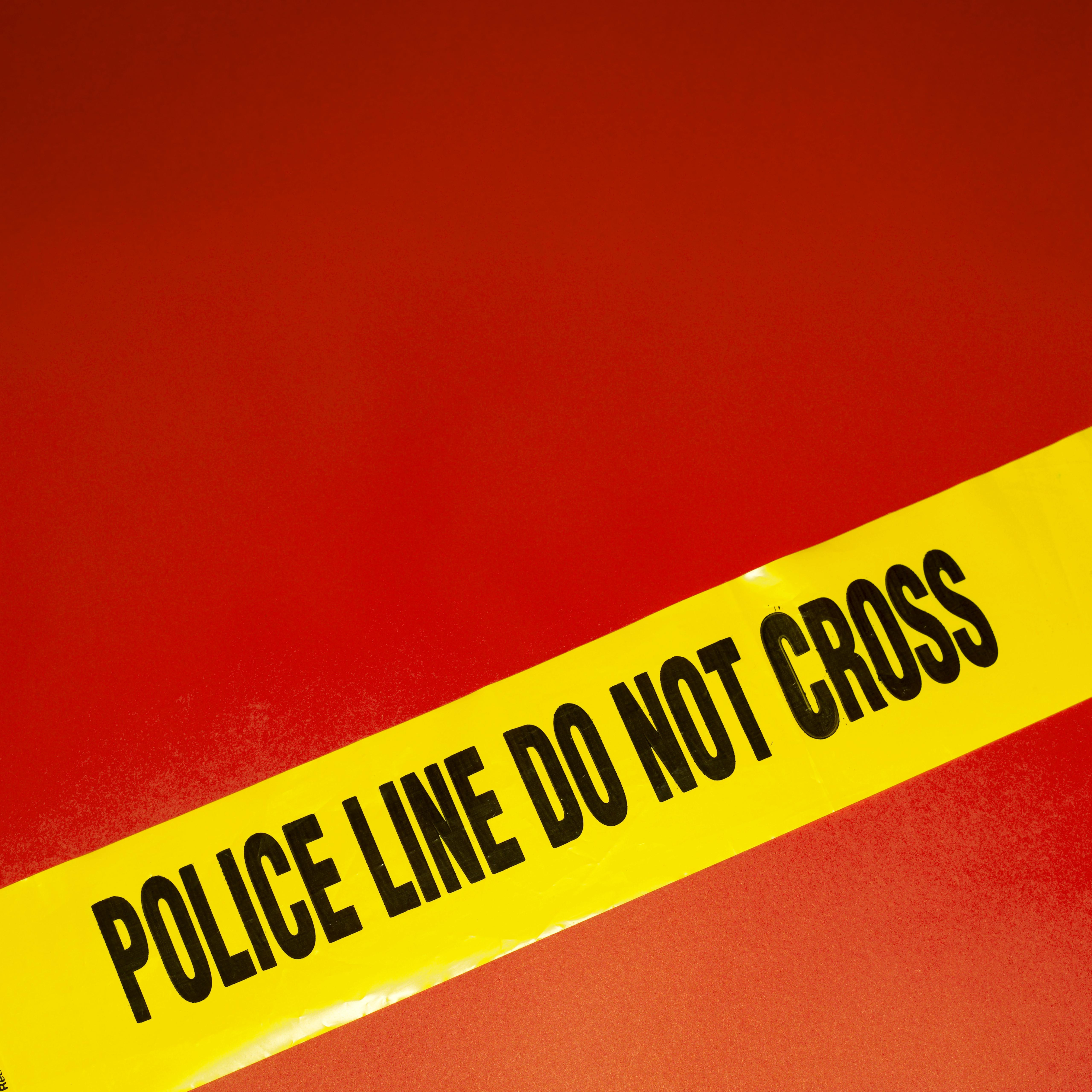 Close-up of police tape