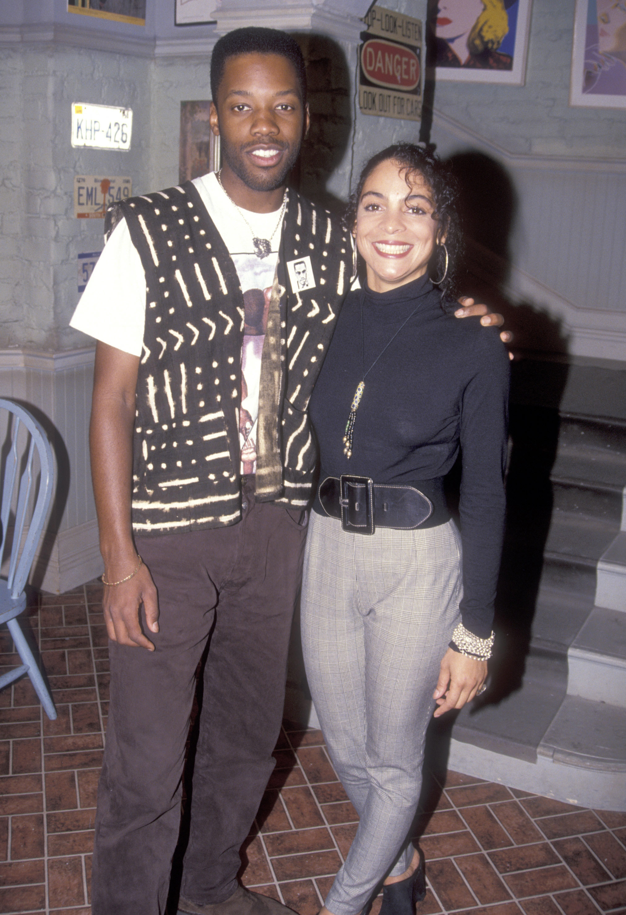 Jasmine Guy and Kadeem Hardison in 1999