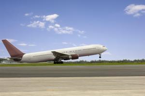 Aeroplane on runway for takeoff