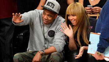 Celebrities Attend The New York Knicks Vs Brooklyn Nets Game