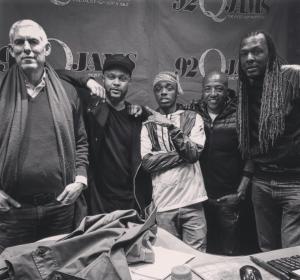 Tate Kobang, Kevin Liles and Lyor Cohen at 92Q