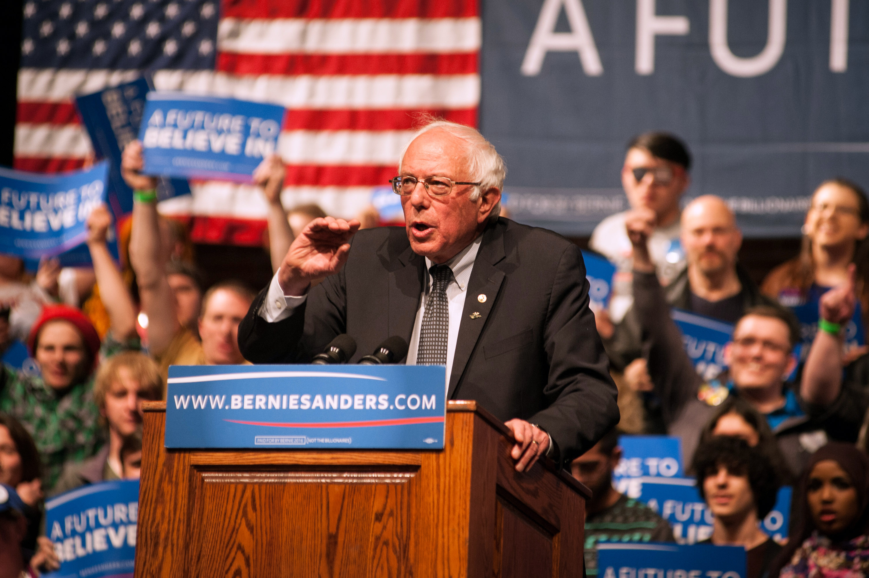 Democratic Presidential Candidate Bernie Sanders Holds Rally In Laramie, Wyoming