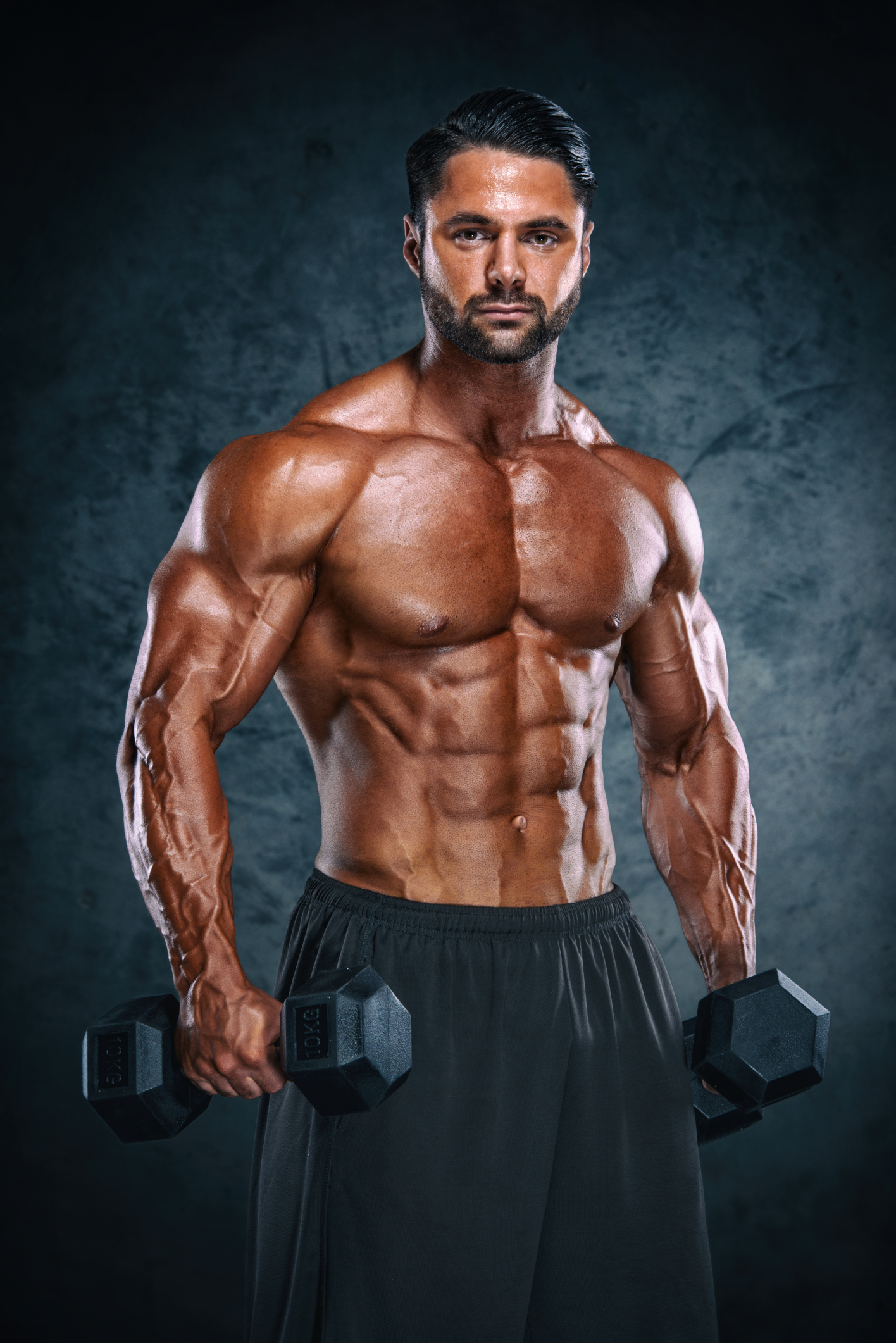 Handsome Athletic Men With Weights