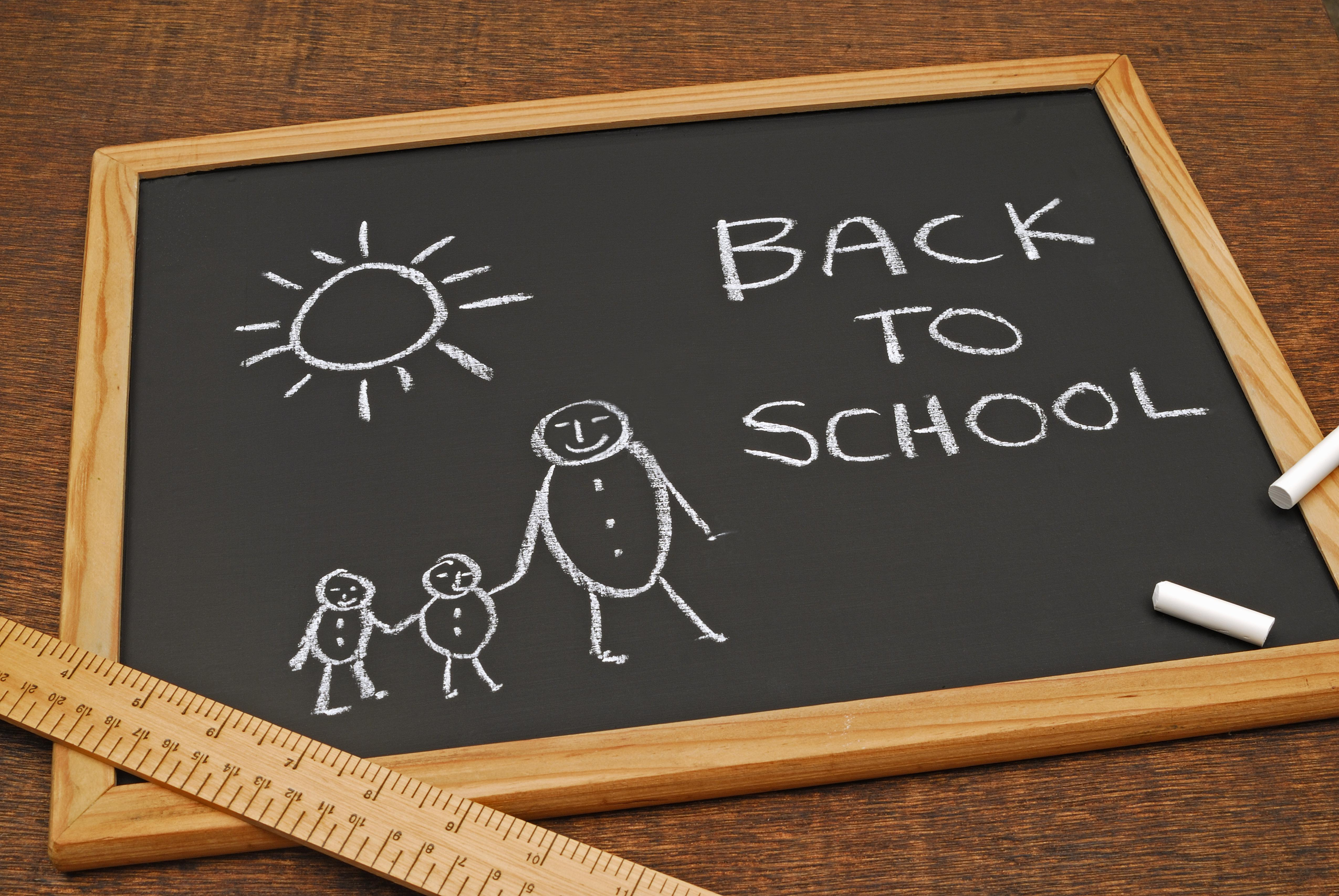 Back to school on a school slate