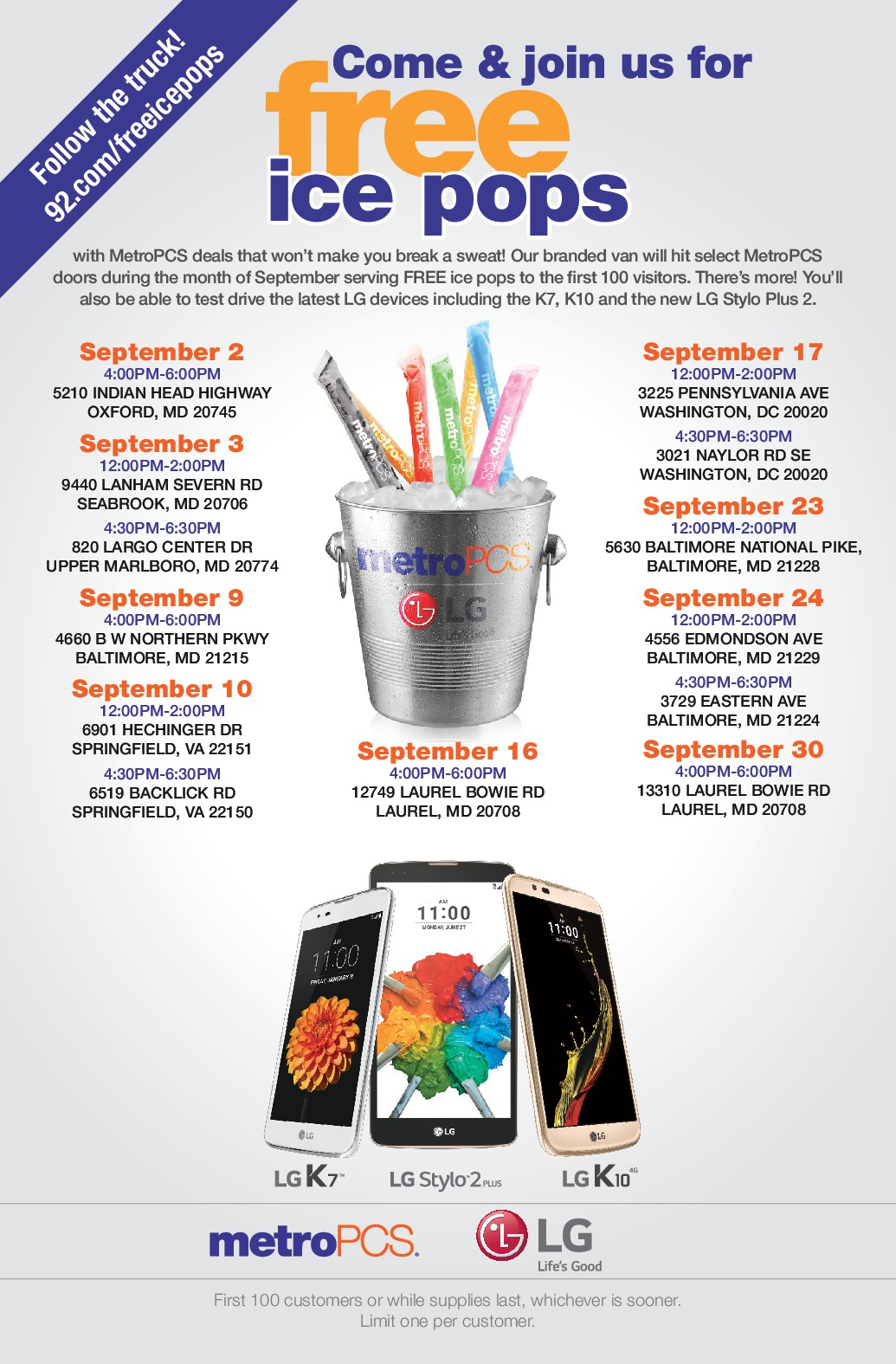 MetroPCS Free Ice Pops Sept 2016
