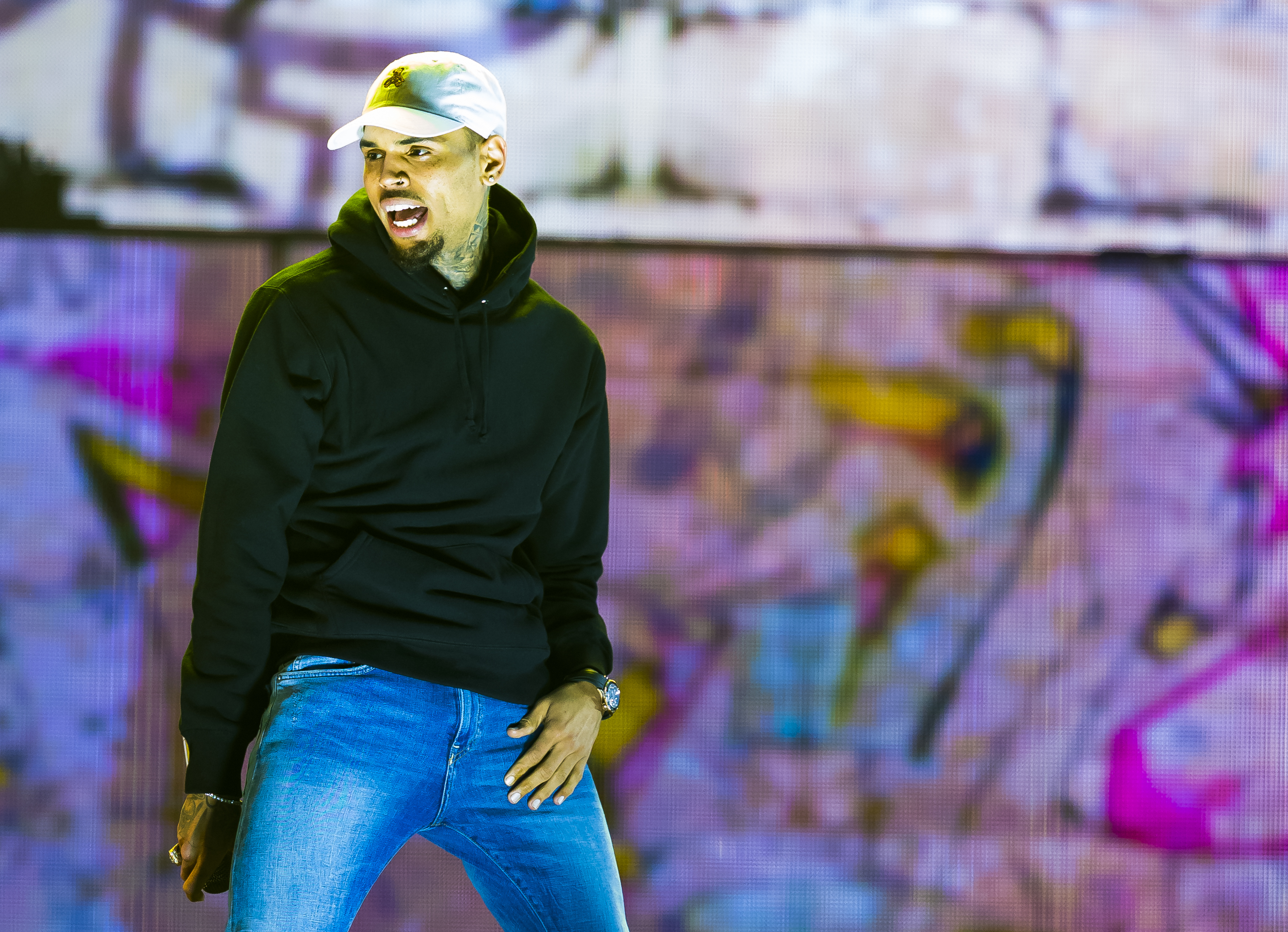 Chris Brown Performs in Concert in Oslo