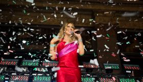 Mariah Carey helps unveil the Bay's Christmas window displays.