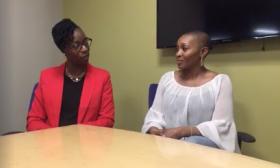 Dr. Shana Ntiri and April Watts