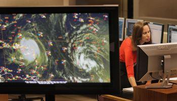 National Hurricane Center Monitors Hurricane Earl As It Tracks Towards U.S.
