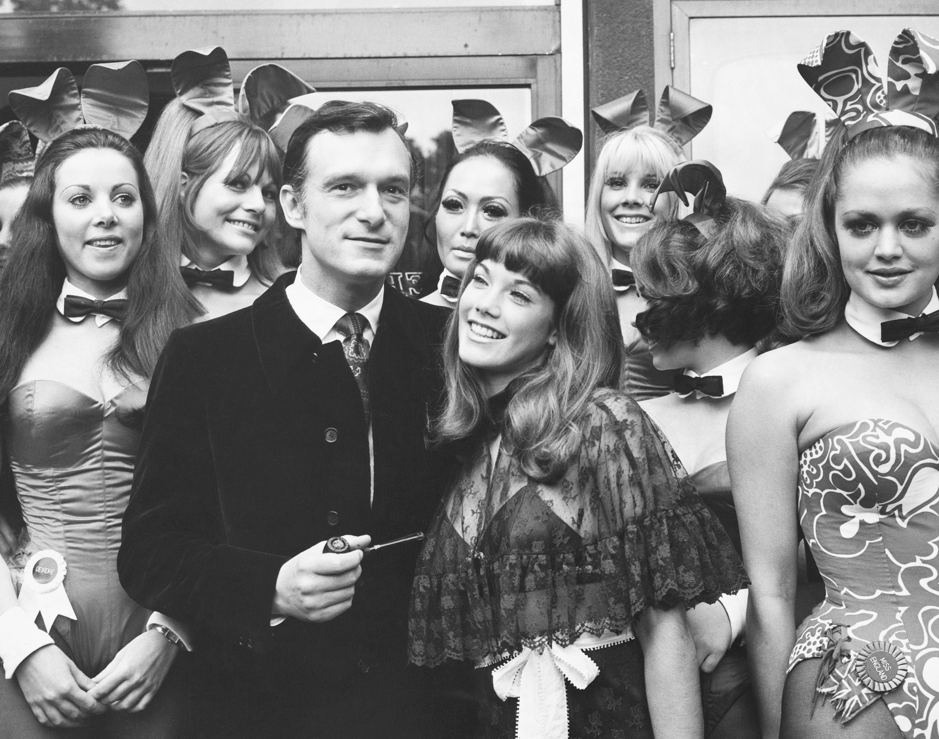 Hugh Hefner and Bunnies