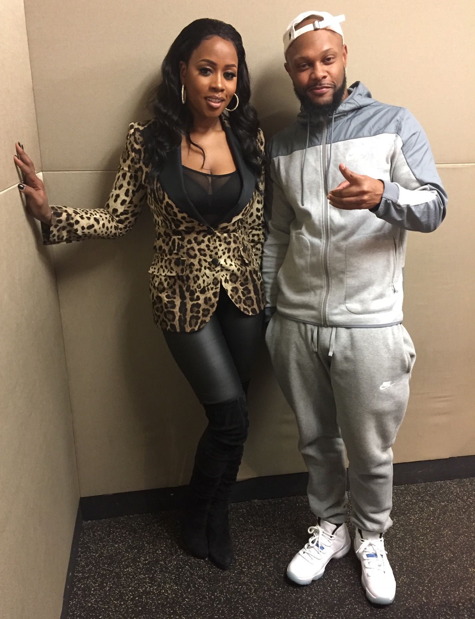 AJ and Remy Ma at 92Q in Baltimore