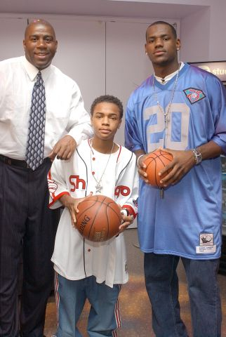 LeBron James, Bow Wow and Magic Johnson Visit MTV's 'TRL' - June 18, 2003