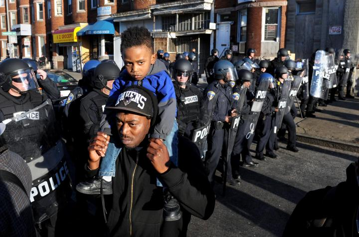 The Day After Violence and Riots in Baltimore
