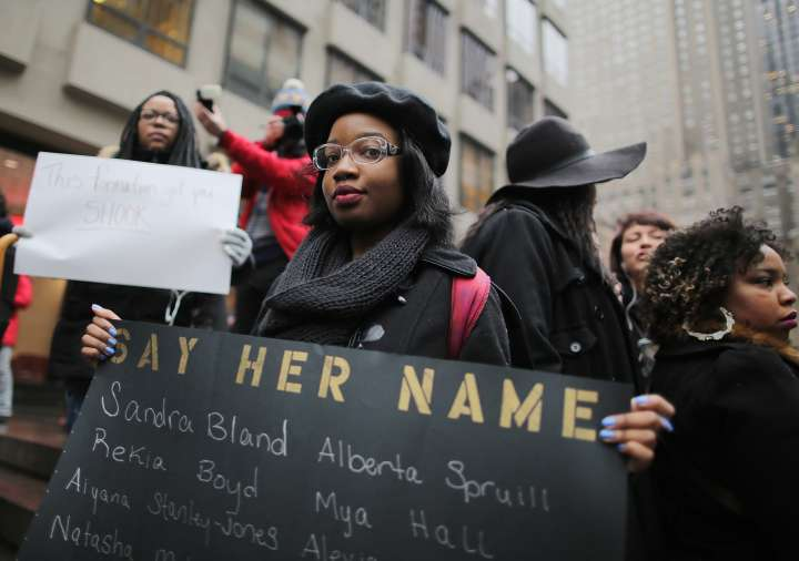 Anti-Anti Beyonce Protest Rally At NFL Headquarters In NYC