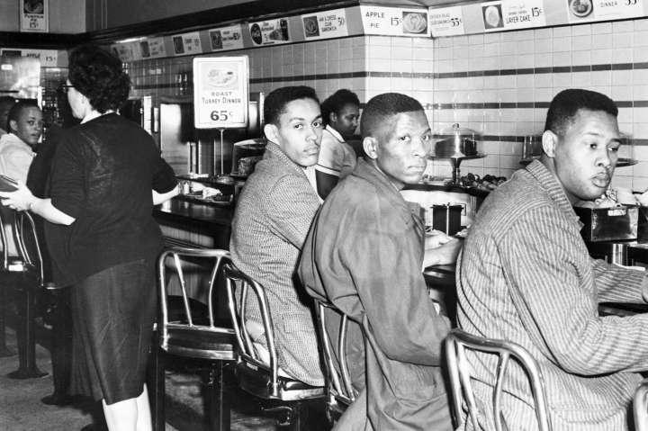 Black Students Sit-In at Woolworth's