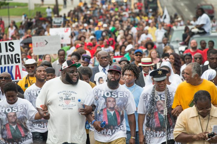Ferguson, Missouri Residents Gather One Year After The Death Of Michael Brown