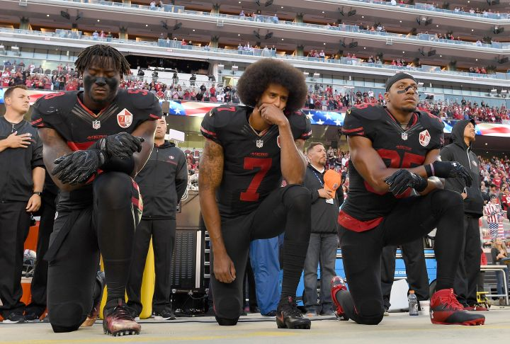 NFL Player Colin Kaepernick Kicks Off Silent Protests