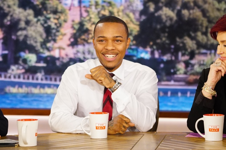 Shad Moss visits 'The Talk' during 'CSI: Cyber' promo run in 2015