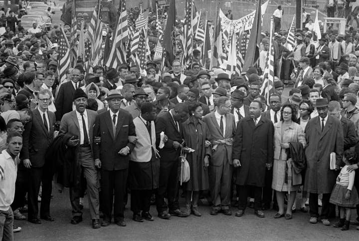 Martin Luther King Leading March to Montgomery