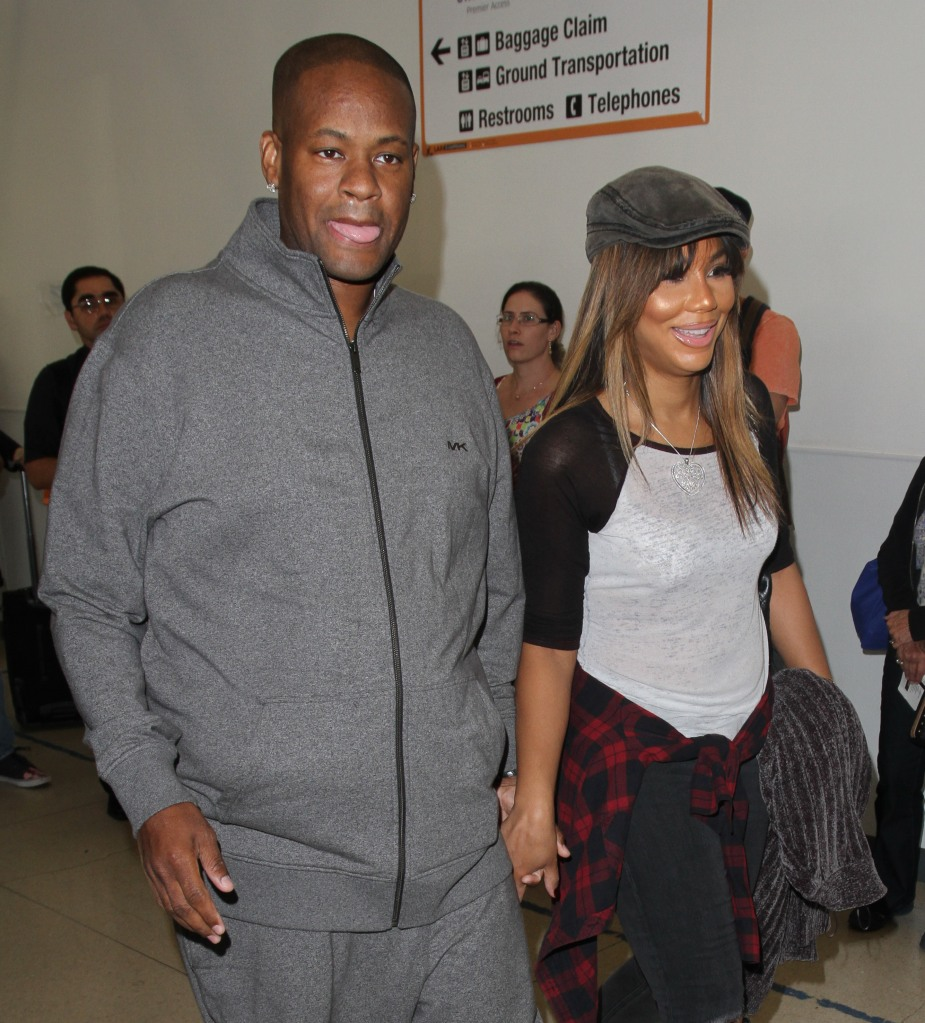 Tamar Braxton arrives at Los Angeles International (LAX) Airport