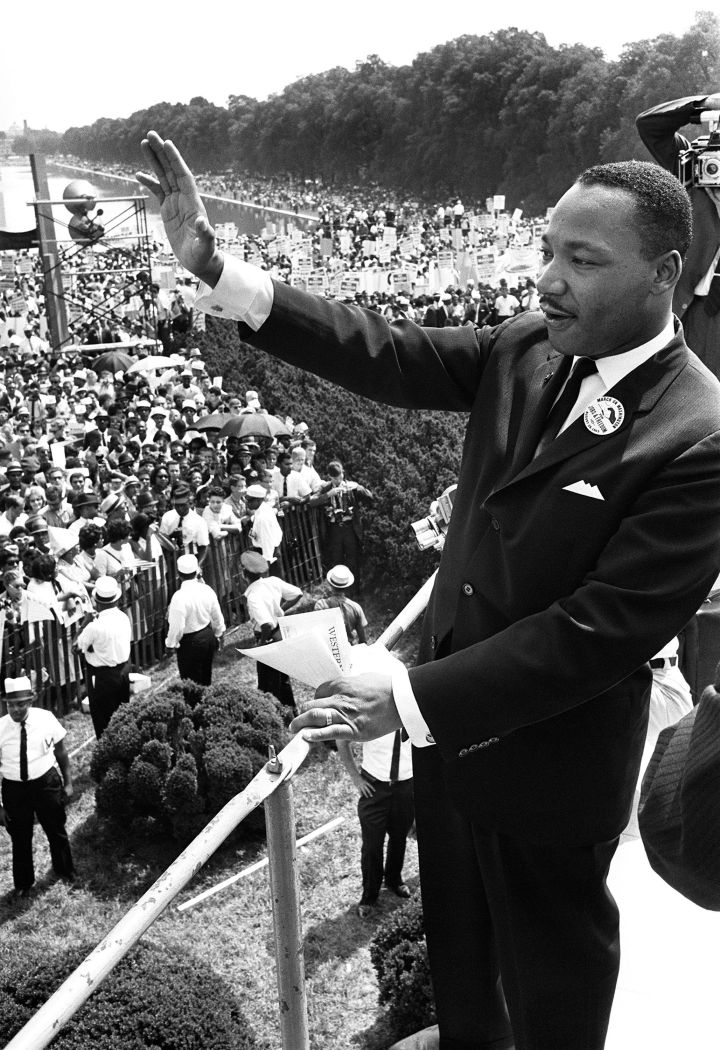 Martin Luther King, Jr. Speaks At March On Washington