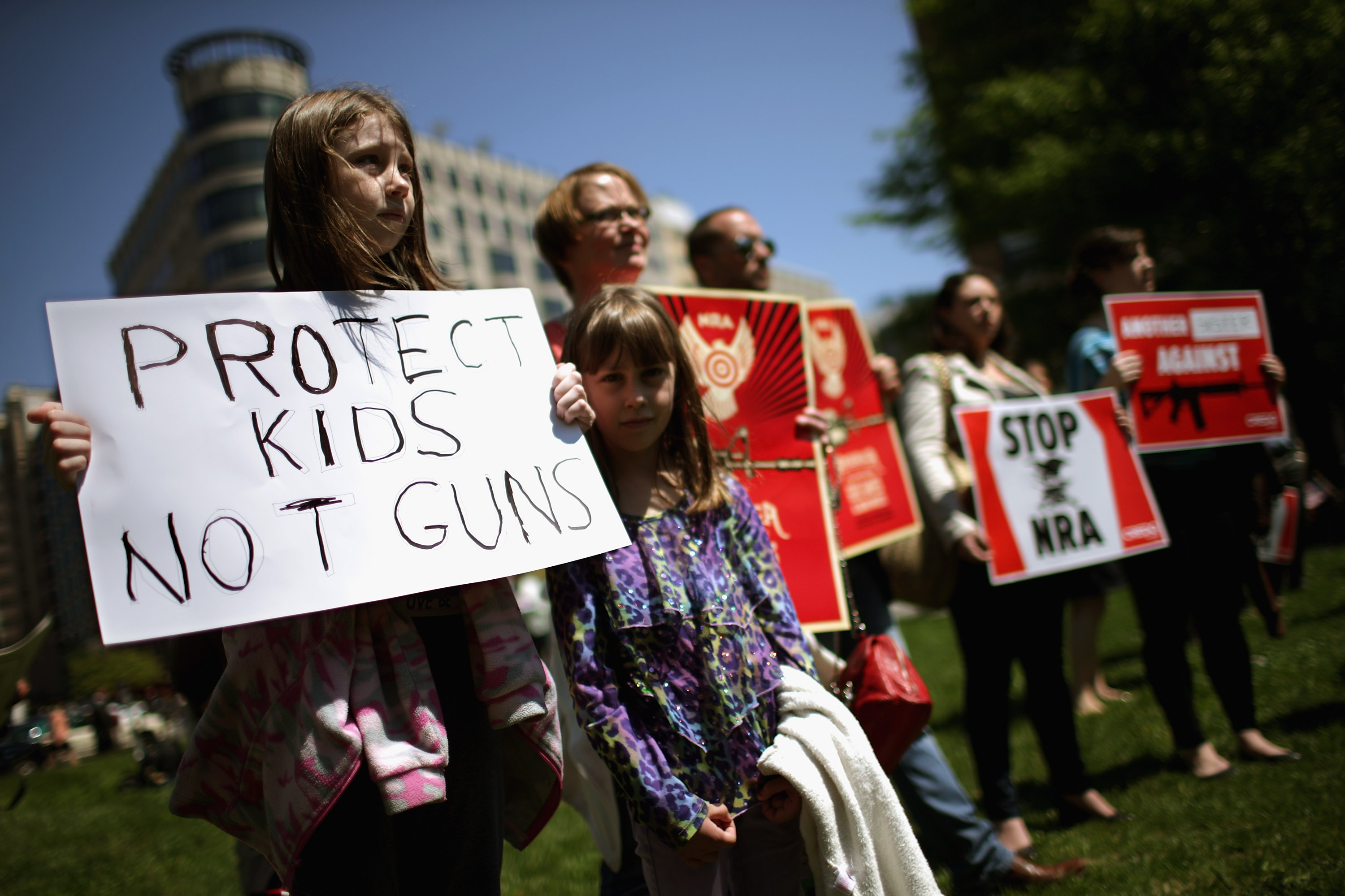 Proponents Of Increased Gun Control Laws Demonstrate In Washington