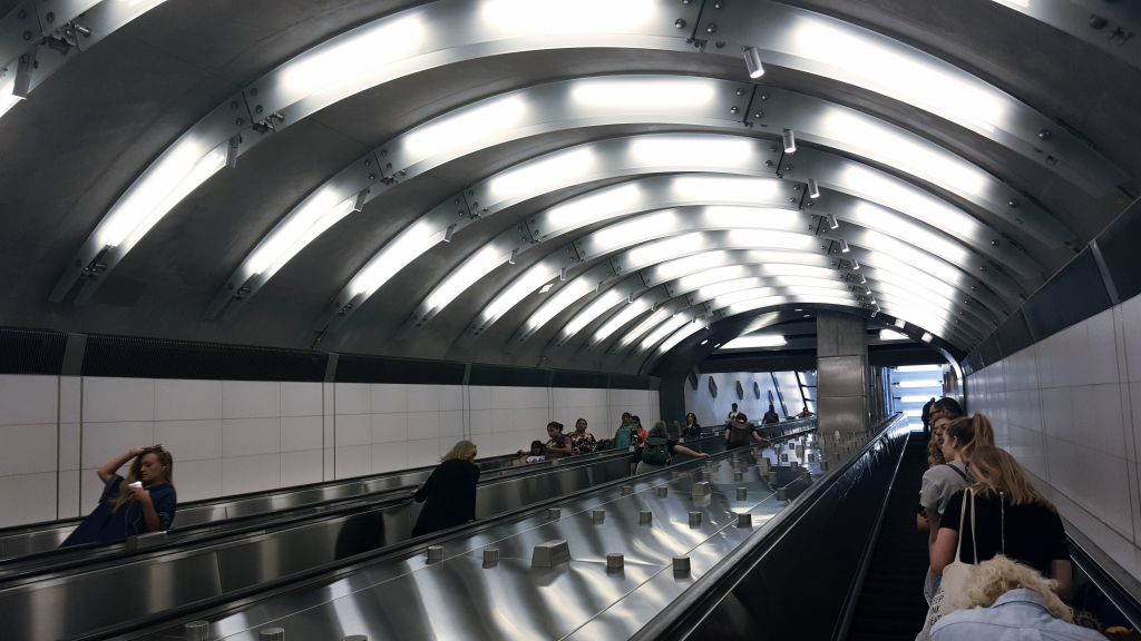 Escalator in the New York City subway