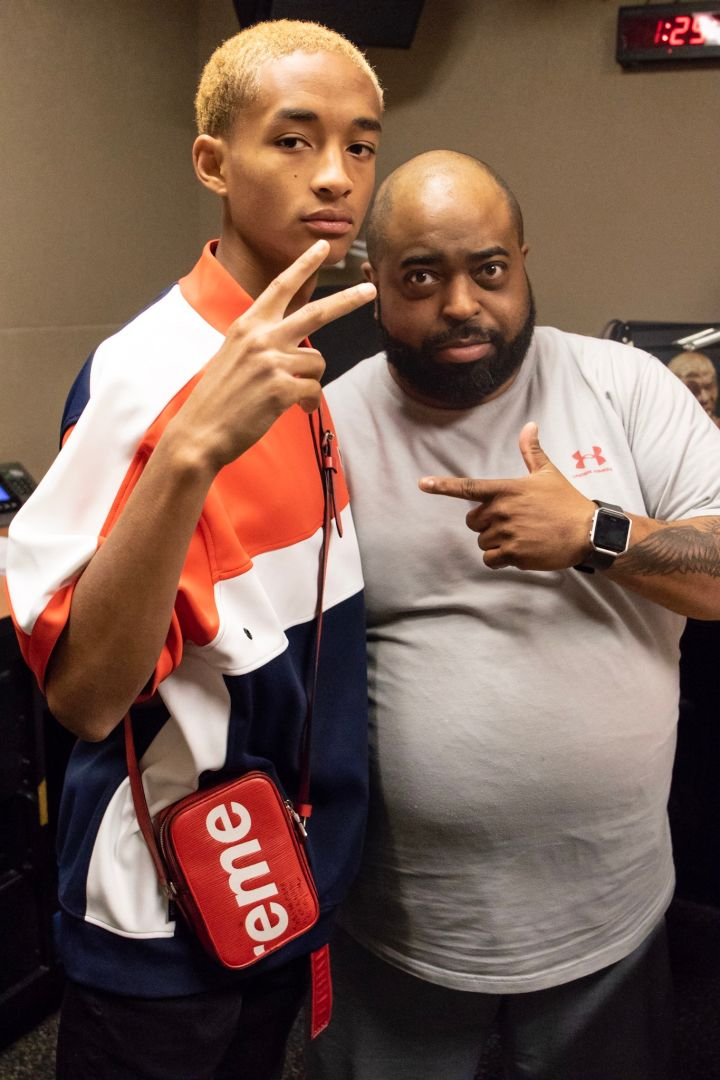 Jaden Smith at 92Q with Porkchop