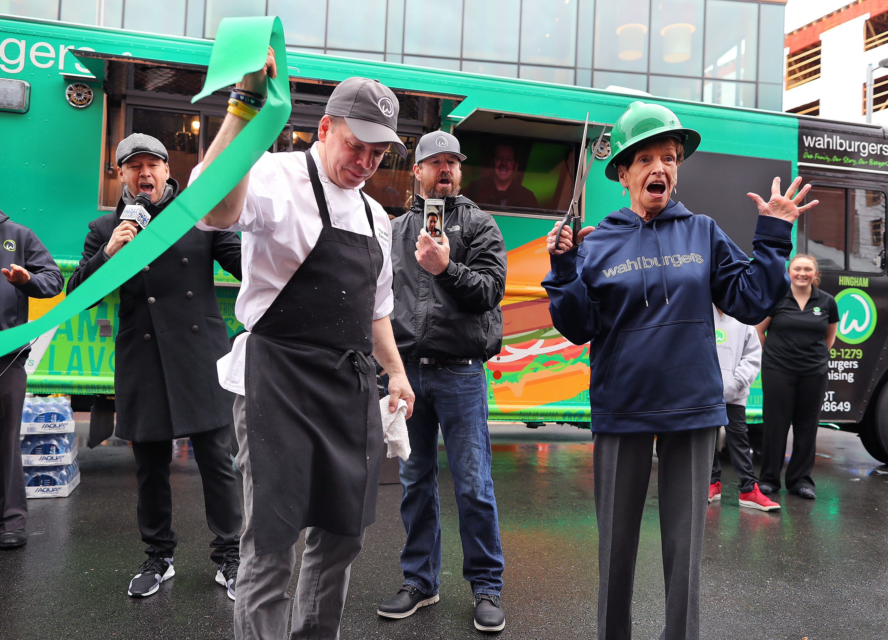 Wahlbergs Launch Wahlburgers Food Truck In Dorchester