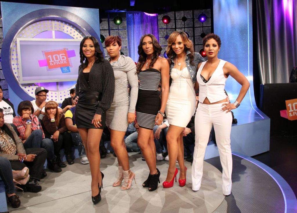 Toni Braxton Visits BET's '106 & Park' - April 11, 2011