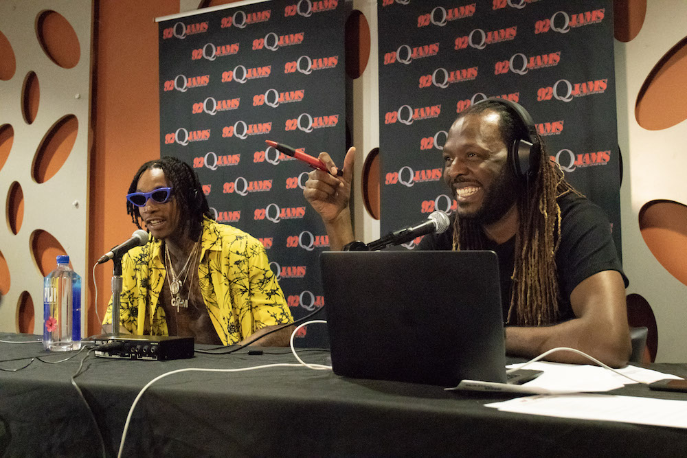 Wiz Khalifa Visits 92Q In Baltimore