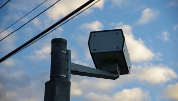 Speed camera on a highway
