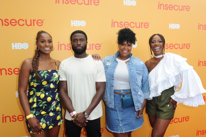 Y'lan Noel Surrounded by the Ladies of HBOs 'Insecure'