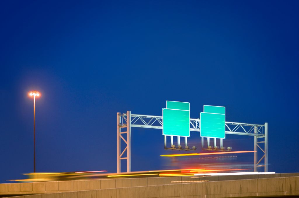 Blank Highway Signs