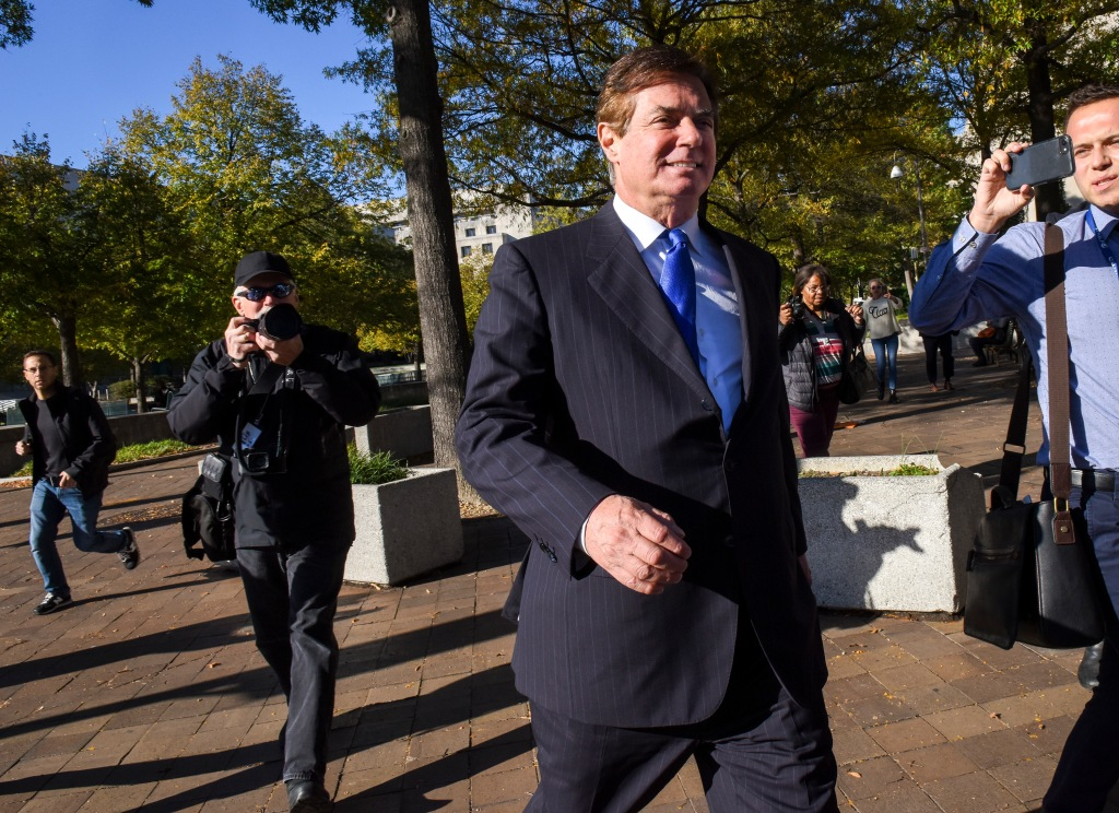 President Trumps former campaign manager Paul Manafort, departs US District Court , in Washington, DC.