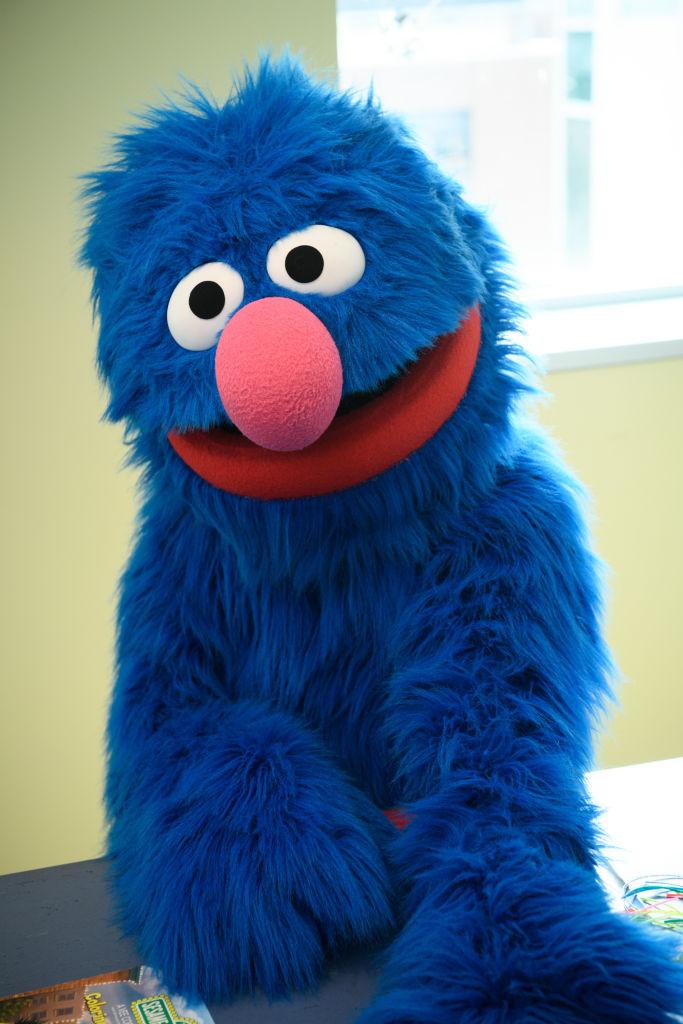 Elmo And Grover From Sesame Street Live Visit The Children Of Joseph M. Sanzari Children's Hospital