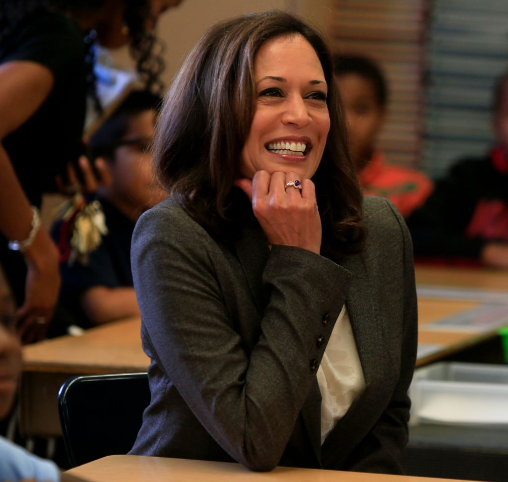 LOS ANGELES, CALIFORNIA, AUGUST 12, 2014: State Attorney General Kamala Harris and LAUSD Superinten