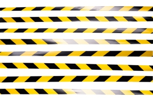 Yellow and Black Striped Cordon Tape