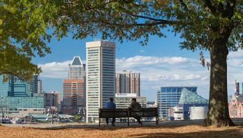 The Inner Harbor, Baltimore.