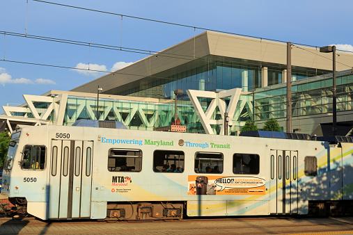 Light rail & Convention Center, Baltimore