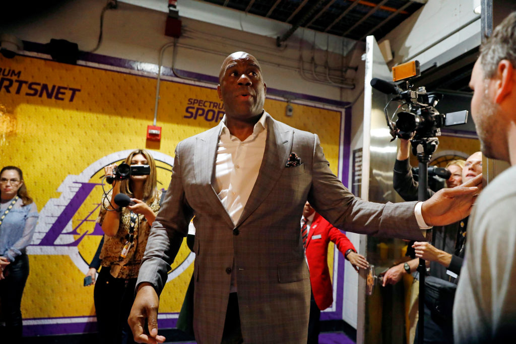 Earvin 'Magic' Johnson Steps Down As Lakers President Of Basketball Operations