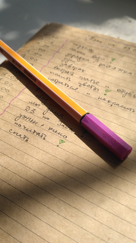 High Angle View Of Pen And Old Book On Table