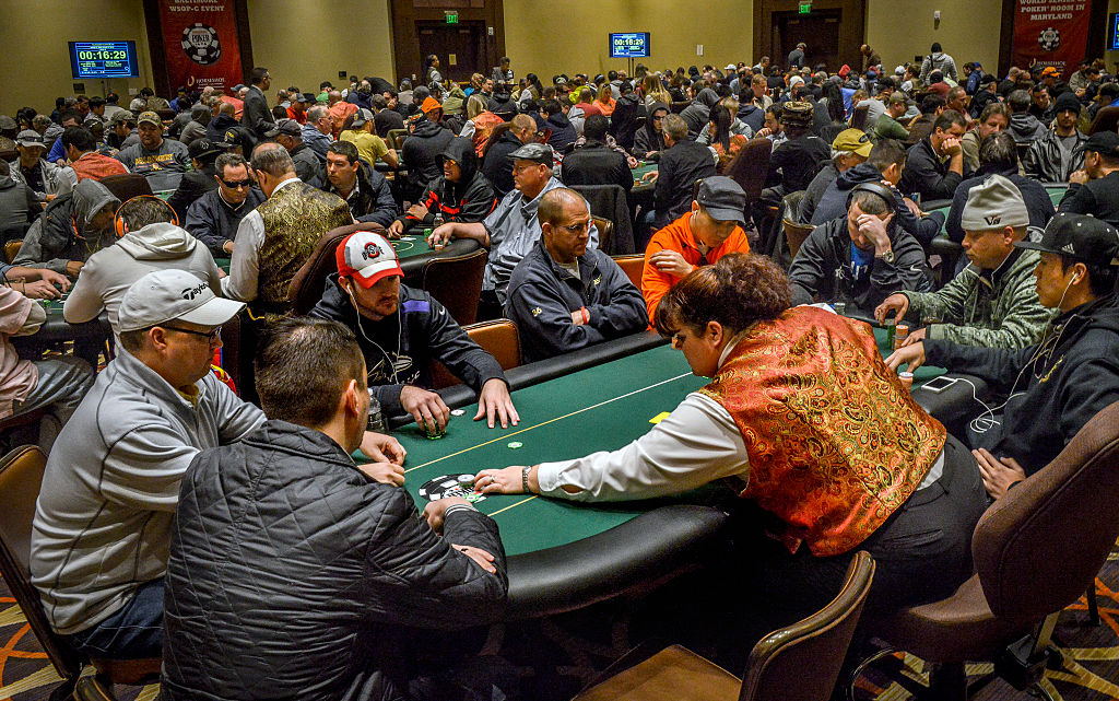 Poker tournament at the Horseshoe casino, in Baltimore, MD.